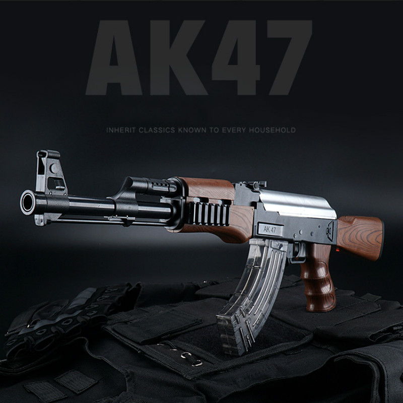 AK47 Electric Bursts Toy Gun Water Bullet Gun Children Boys Rifle Pistol Outdoor Live CS Game Manual Rifle Toys For Kids Gifts