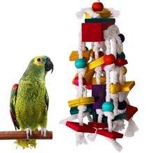 Blocos de madeira para mastigar, blocos de madeira para mastigar, brinquedos de papagaio, aves, mastigar, ferramenta de treinamento