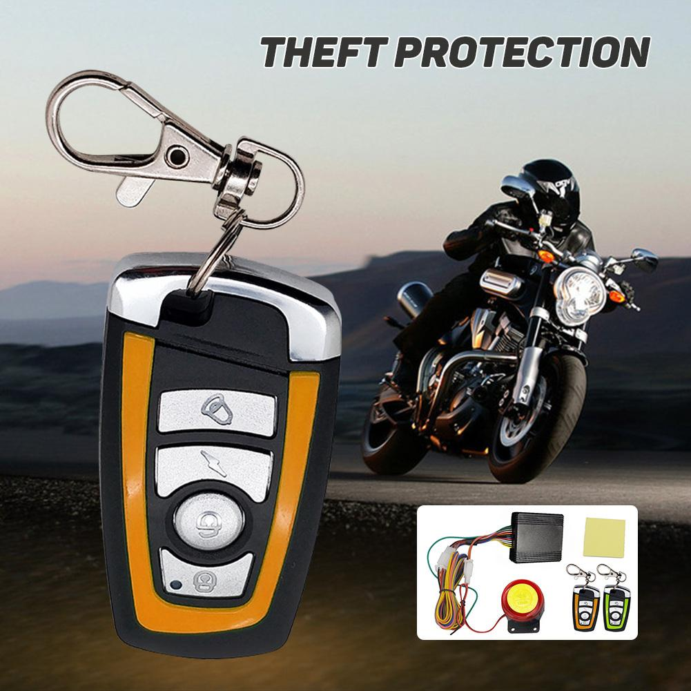 Universal Motorcycle Alarm System Scooter Two-way Anti-Theft Security Alarm System With Motor Start Remote Control Keychain