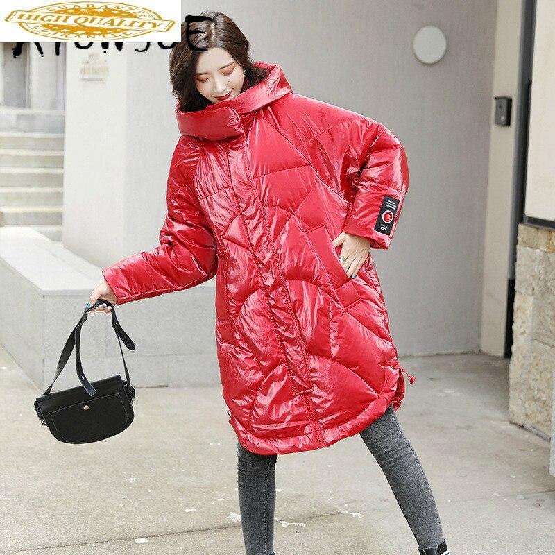 Jacket Women White Duck Down Coat Winter Down Jacket Women Jacket Korean Hooded Puffer Jacket Chaqueta Mujer 8073 YY1322