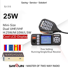 Baojie BJ 318 Auto Walkie Talkie Dual Band VHF UHF Mobile Radio 20/25W Walkie Talkie 10 km Auto radio 10 KM Upgrade von BJ 218 Z218