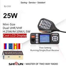 Baojie BJ 318 samochodowe walkie talkie dwuzakresowy VHF UHF mobilnego radia 20/25W Walkie Talkie 10 km Radio samochodowe 10 KM modernizacji BJ 218 Z218