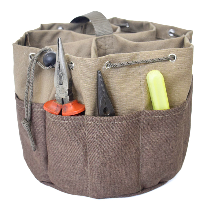 Worker Tools Bag Multi-Function Canvas Parachute Bag Small Parts Bag Electrical Screwdriver Pliers Tools Portable Storage Bag