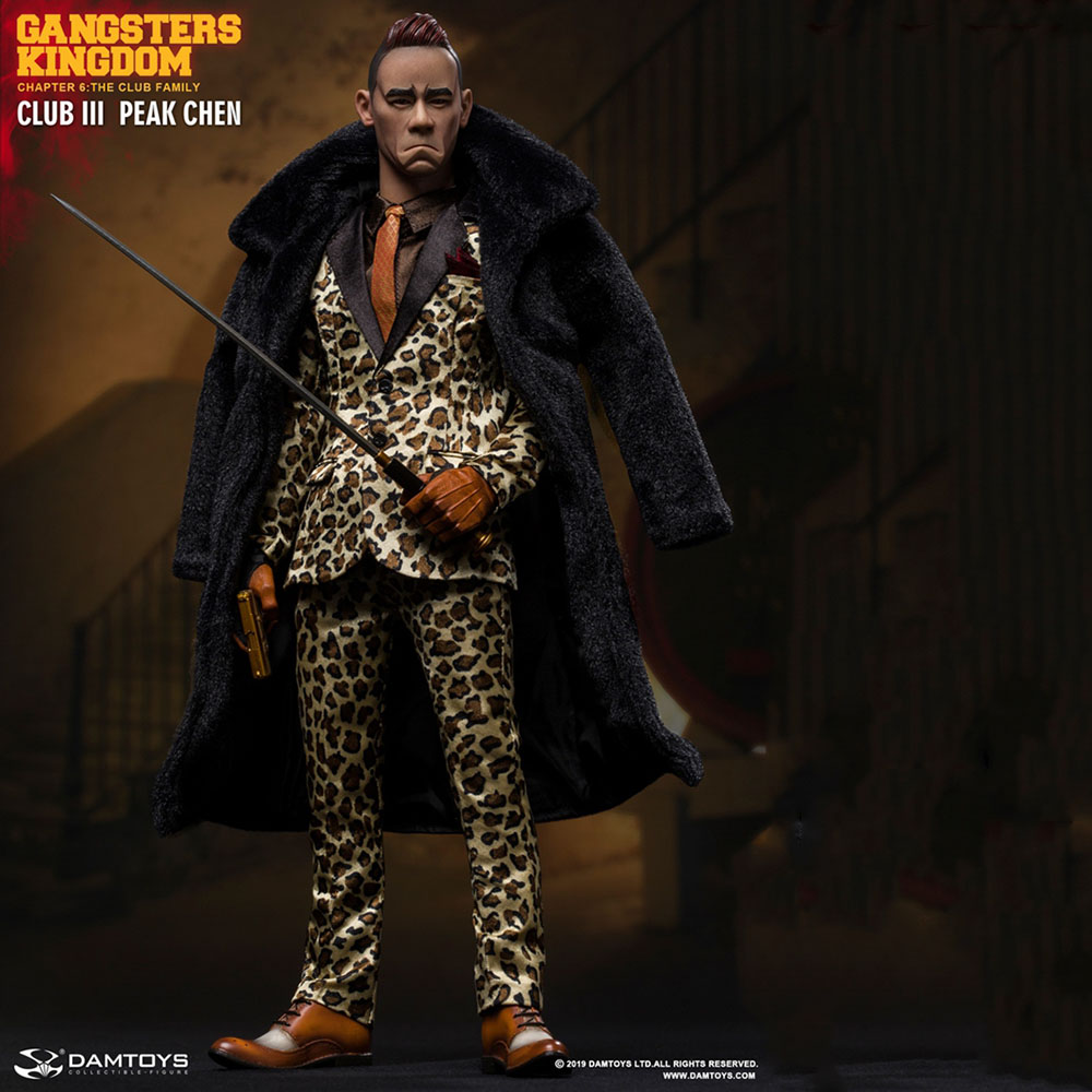 In Stock DAMTOYS GK018 1/6 Sale Collectible Full Set <font><b>Gangster</b></font> <font><b>Kingdom</b></font> Grass Flower 3 Peak Chen Action Figure for Fans Gifts image