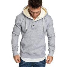 Осень 2020 новый спортивный свитер мужская мода вырез пуговицы