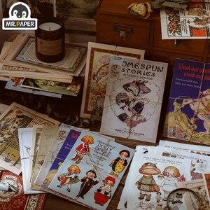 Mr.paper 10pcs 10 Design Antique Vintage Paper Kraft Card Journaling Bullet Scrapbooking Material Paper Fresh Words LOMO Cards