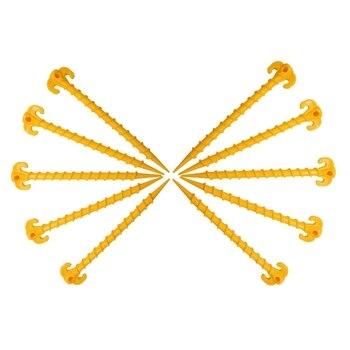 Allazone 20 Pz Clavijas de Aluminio Tiendas de Campa/ña de Aleaci/ón de Aluminio Ultraligero Cuerdas Reflectantes con Tensor para Monta/ñismo Clavijas de Estacas para Tiendas