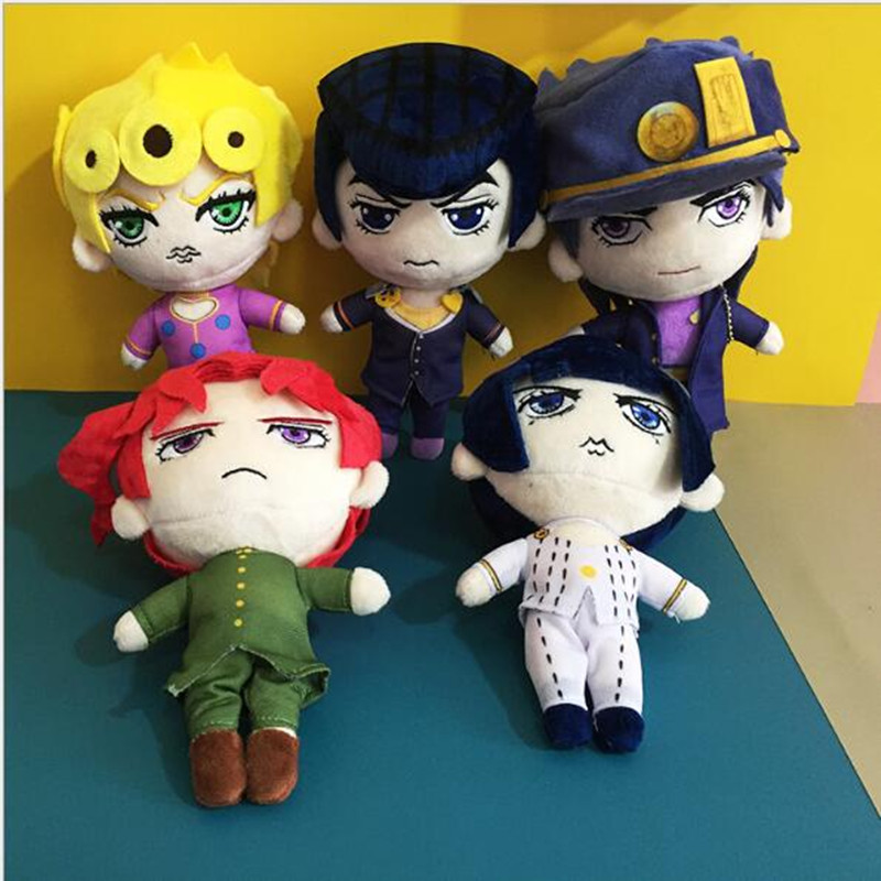 20cm New  JoJos Bizarre Adventure Plush Toys Giorno Narancia Mista Buccellati Abbacchio Fugo Stuffed Dolls For Kid Gift