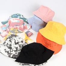 Лето 2020 галстук краситель ведро шляпа рыболовные шапки женские