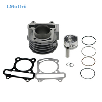 LMoDri Motorcycle Cylinder Kits Scooter Moped GY6 Engine Cylinder Set Piston Ring Gasket Assembly For GY6 50cc 60cc 80cc 100cc