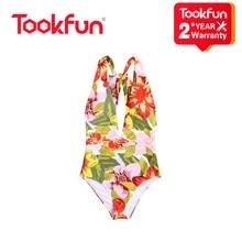 Xiaomi mais novo sexy maiô feminino de uma peça profunda v ajustável rendas-up pescoço halter maiô push up bather brasileiro beachwear