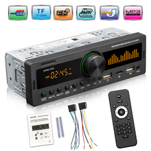 1Din راديو السيارة الوسائط المتعددة بلوتوث يدوي مشغل MP3 FM AM الصوت 12 فولت USB/SD/AUX المدخلات في داش محدد السيارات ستيريو رئيس وحدة
