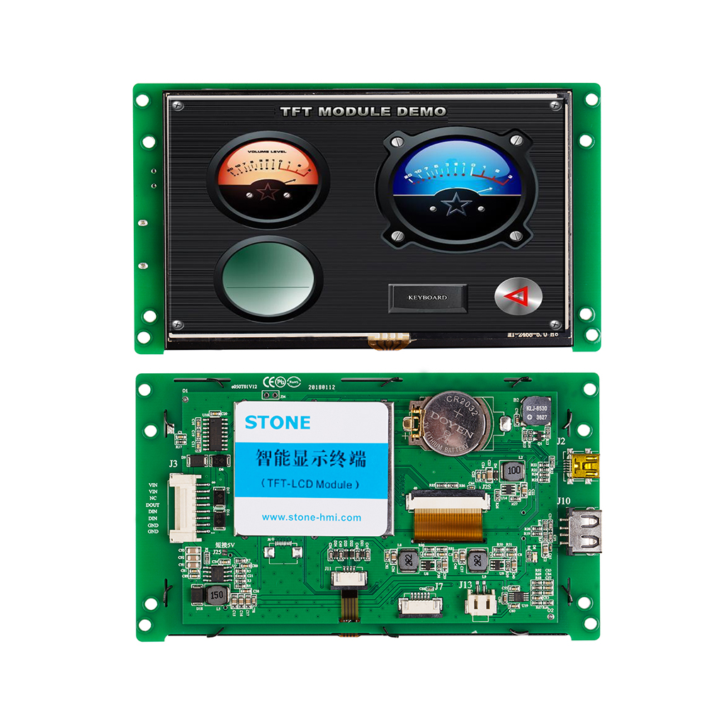 STONE 5.0 Inch HMI TFT LCD Display Module With RS232/RS485/TTL +Software+Program For Industrial Use