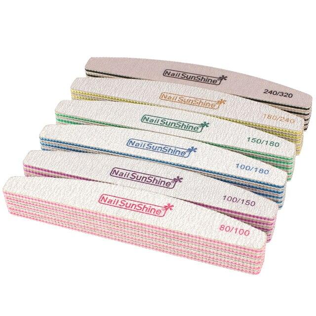 50 ピース/ロット強力な紙やすりネイルファイルのためのマニキュアバッファミックスグリッツ新バフポリッシュブロック洗えるペディキュアサロンツール