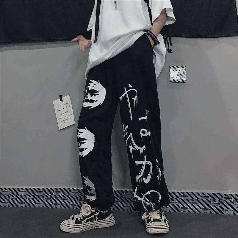 Мужские повседневные брюки 2021 черного цвета в стиле «хип-хоп», мужчкие спортивные брюки уличной моды брюки Японская уличная одежда брюки дл...