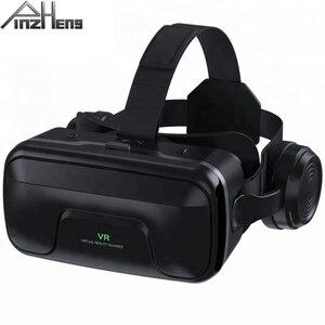 Image 1 - PINZHENG gafas 3D VR para casco, gafas de realidad Virtual, auriculares VR para IOS, Android, teléfono inteligente, vídeo de PC, juego, gafas de cartón