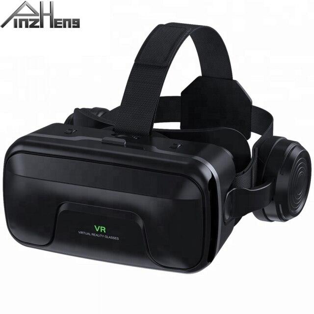 PINZHENG gafas 3D VR para casco, gafas de realidad Virtual, auriculares VR para IOS, Android, teléfono inteligente, vídeo de PC, juego, gafas de cartón