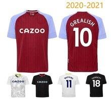 Ollie 20-21 Aston Villa Camisa Jack Inglaterra Camisa De Futebol T-shirt Da Camisola Nova