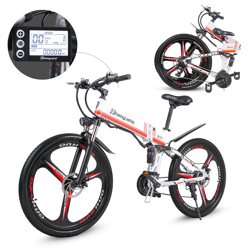 2021 New M80 Adult Off-road Electric Bike 26 inch Ebike 350W 12.8AH Lithium Battery Foldable mountain Electric Bicycle for men