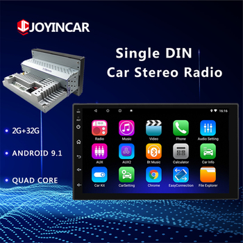 Android 9.1 Car Multimedia Player Universal 1din 2G+32G Adjustable Car Radio Autoradio Stereo GPS Navigation Wifi BT Mirror Link image