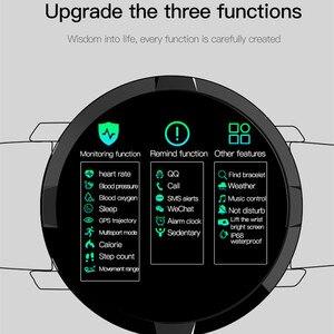 Image 5 - Reloj inteligente F13 de acero inoxidable para hombre, reloj inteligente deportivo completamente táctil, con control del ritmo cardíaco y Contador de pasos