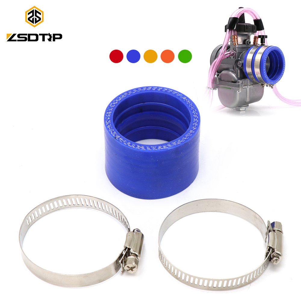ZSDTRP 45mm Carburetor Rubber Adapter Intake Manifold For Keihin <font><b>PWK</b></font> <font><b>34mm</b></font> 36mm 38mm 40mm 42mm Carb Rubber Inlet Manifold image