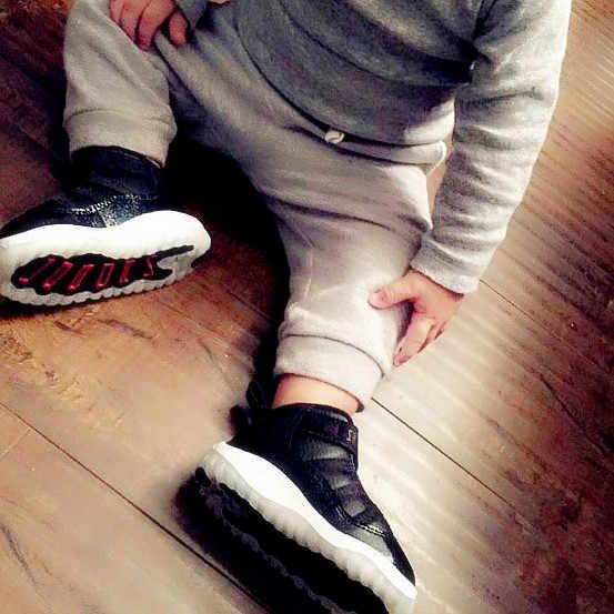 Nike air jordan xi crianças originais sapatos confortáveis tênis esportivos leves #378039-002