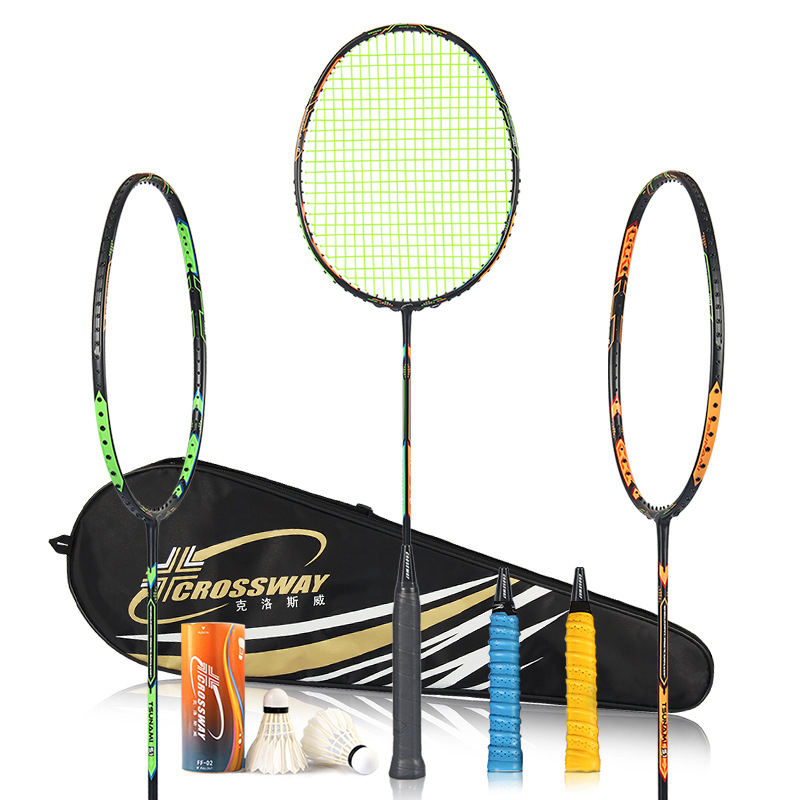 2pcs Professional Badminton Rackets Set Family Double Badminton Racquet Titanium Alloy Lightest Playing Badminton