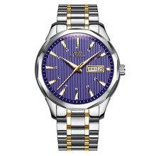 Relogio Masculino Steel Shell Belt Mens Watch OLMECA Luxury Brand Round Three-needle Personality Quartz