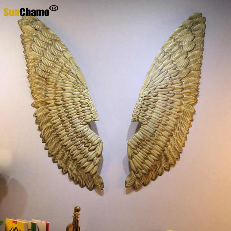Color : A Sculpture Artwork Wall Decoration Industrial Wind Office Wall Decoration Wall Hanging Vintage Iron Wing Wall Decoration Bar Wall Decoration Pendant