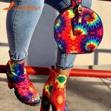 Drop Shipping On Sale Fashion Party Multi Tie-dye Unique Handbags Female Lady Bags Women Casual Circular Bag Purse Package