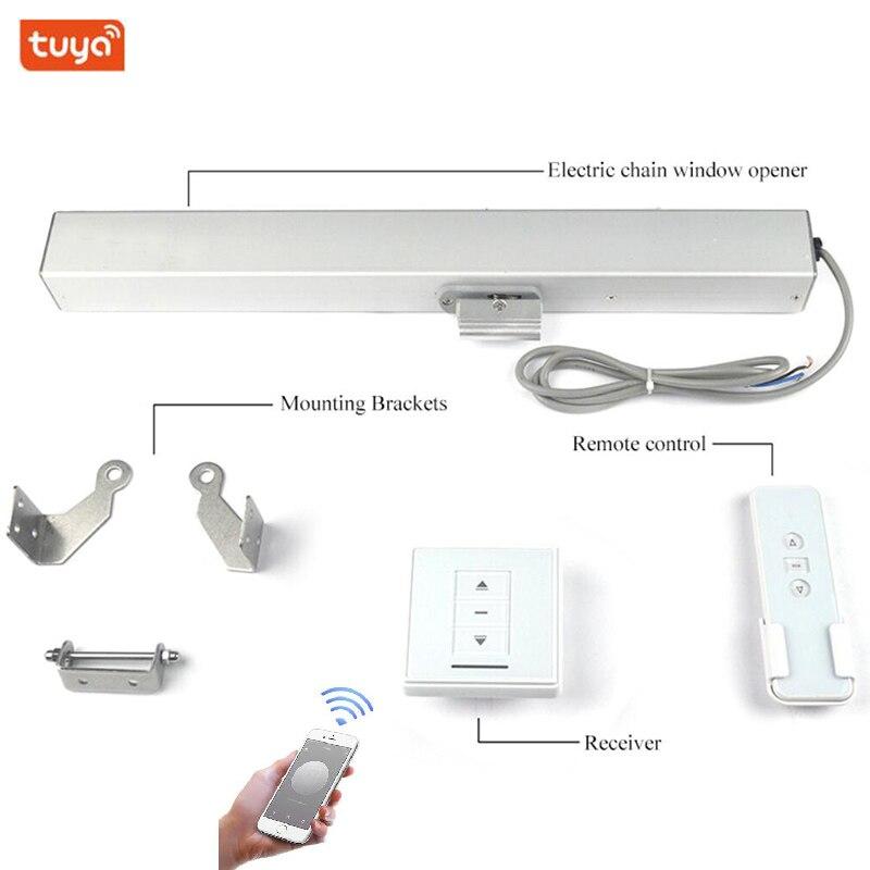 2 draht 24V Tuya Kette fenster opener Oberlicht fenster motor antrieb Wifi Telefon Automatische schließen/öffnen fenster Smart home automation