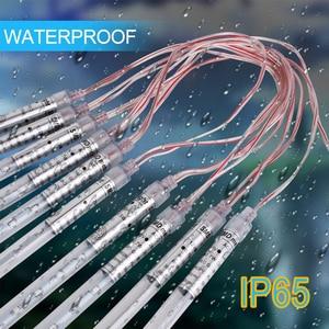 Image 4 - 10Pack 30/50cm Solar Power Meteor Shower Rain Tubes , 24/40 Led DC7V LED String Lights For Christmas Wedding Decor Outdoor