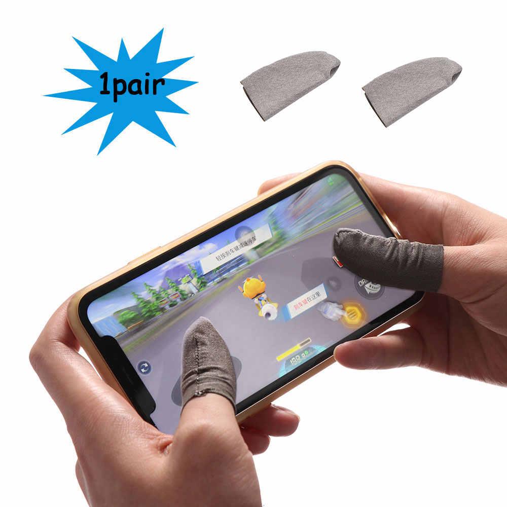Las cunas antideslizantes evitan que la mano se deslice transpirable controlador de Joystick conductor Sweatproof funda para el dedo para PUBG