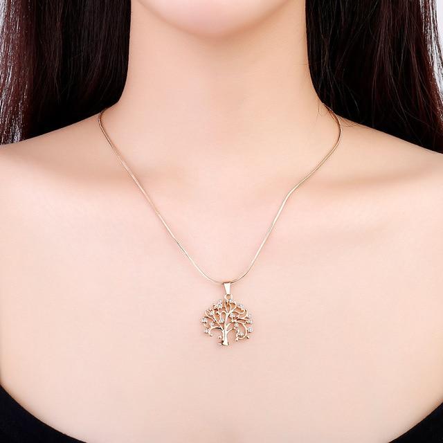 Купить стразы ожерелья чокеры с подвеской в виде дерева жизни аксессуары