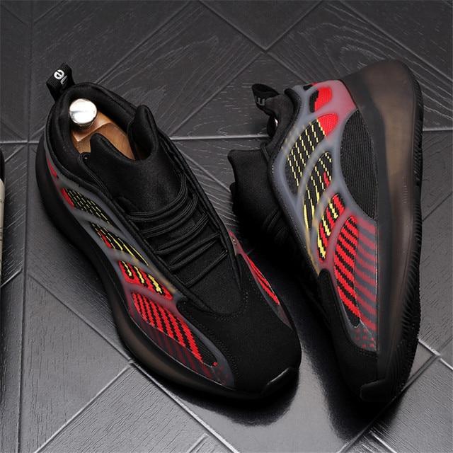 Verano de los hombres Zapatillas de deporte Hip Hop celebridad Web placa transpirables zapatos de Hombre Zapatos cada vez mayor altura Zapatillas Hombre 2