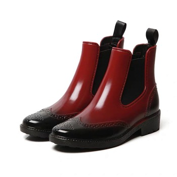 Autumn Fashion Rubber Boots For Women Rain Boots Waterproof Shoes Woman Shoes Ankle Boots Spring Female Platform Chelsea Booties autumn winter ankle boots women platform boots lace up black white leather rubber boots woman shoes comfortable women s boots