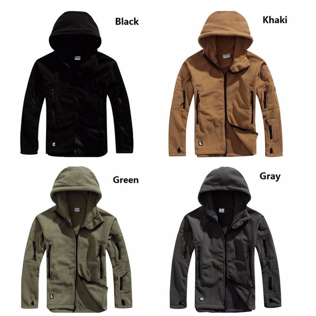 Tactical Hunting Apparel for Men  Solid Thermal Winter Jacket  Military Jacket  Hunting Clothes Soft Breathable Hooded Coat 4