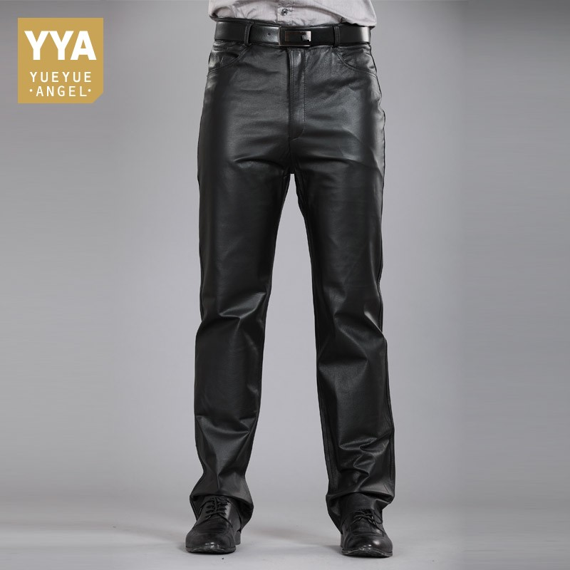 Casual Pants Men Genuine Leather  1