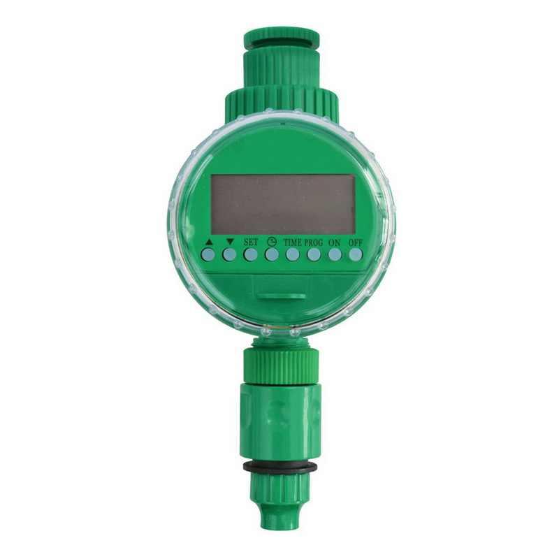 Controlador de riego inteligente automático pantalla LCD temporizador de riego manguera grifo temporizador impermeable al aire libre automático encendido apagado