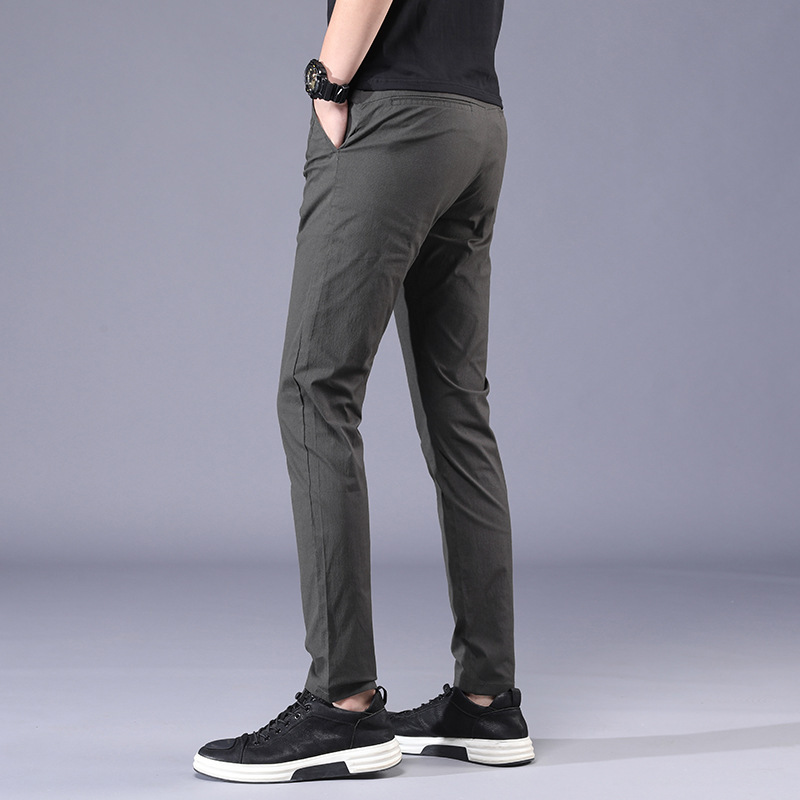 Youth Men's Trousers MEN'S Casual Pants Elasticity Skinny Casual Pants Men's Athletic Pants MEN'S Long Trousers Men'S Wear