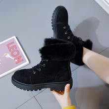 Snow boots Martin boots winter new fashion plush casual warm high boots women's shoes boots women winter boots women 2016 high quality women boots winter casual brand warm shoes women leather plush fur boots fashion red snow boots for women