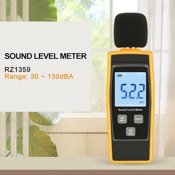 Mini mierniki poziomu dźwięku miernik decybeli hałasu detektor Audio ekran cyfrowy LCD tanie i dobre opinie Adeeing Digital Meters