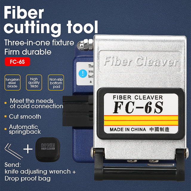 FC 6S FTTH Optical Fiber Cleaver metal Small High Precision Fiber cutting cable cold connection cutter tool