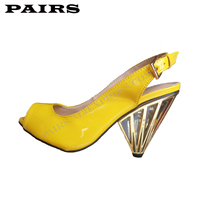 Original Luxury Design Shoes Women Sexy Golden Heels Genuine Leather Pumps Party Sandals Plus Size 43 Custom Made for L.R.B