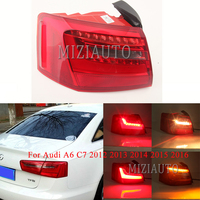 Rear Tail light Outer side For Audi A6 C7 2012 2013 2014 2015 2016 Tail Stop brake light turn signal Bumper Lamp Car Accessories