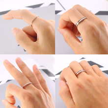 Europe And America Fashion Titanium Steel Rose Gold Rings Women's Black And White Oil Drop Very Fine Ring Stainless Steel Forefi(China)