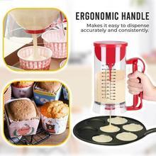 Electric Powered Mixing Egg Beater Dispenser Ergonomic Tool Kitchen Baking Handle Pancake Separator Batter P3L7