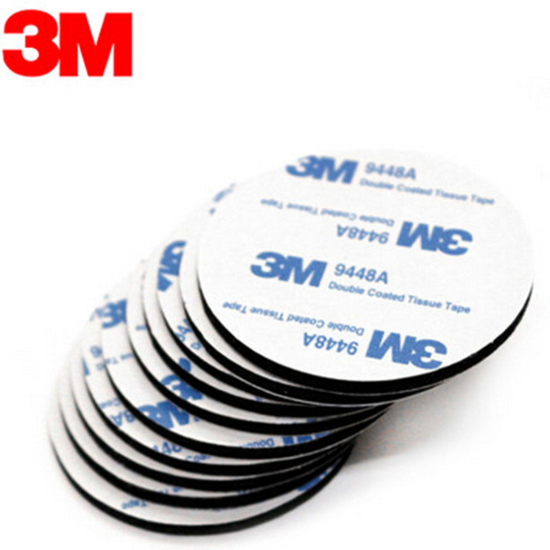 10PCS 3M double-sided black foam tape strong pad Round sticker Suitable for mounting RC model Receiver Servo LED