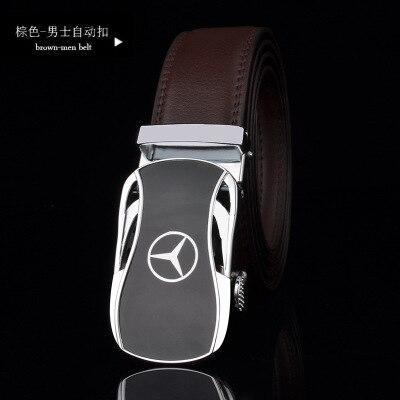 Cow leather Men belt women strap belt auto buclke for Aud Benz